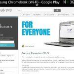 サムスンのchromebookがGooglePlayで入荷間近?